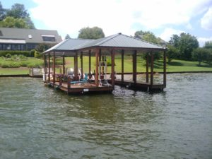 Lake Bowen Aluminum Hip and Half Roof Floating Dock with IPE Decking