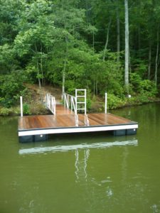 Lake Hartwell Aluminum T-Dock