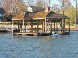 Lake Bowen Aluminum Dock with Cedar Cupola and Hip Roof