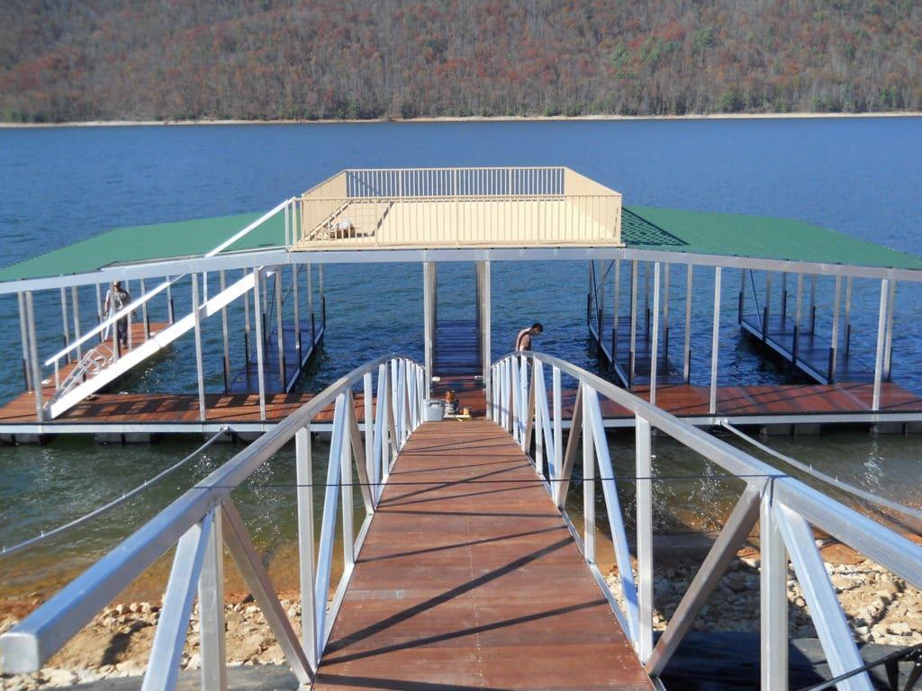 Aluminum Multi Slip Dock Sun Deck