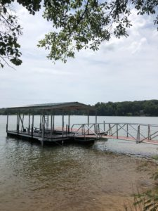 24 by 28 Aluminum Floating Dock with Gable roof