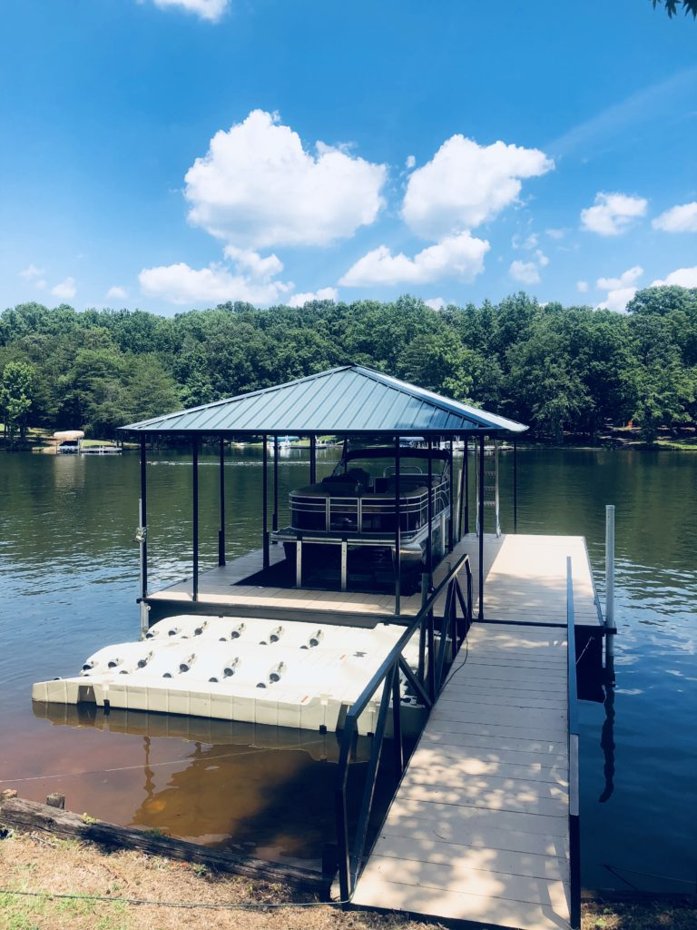 22' x 28' Steel Dock with Hip Roof