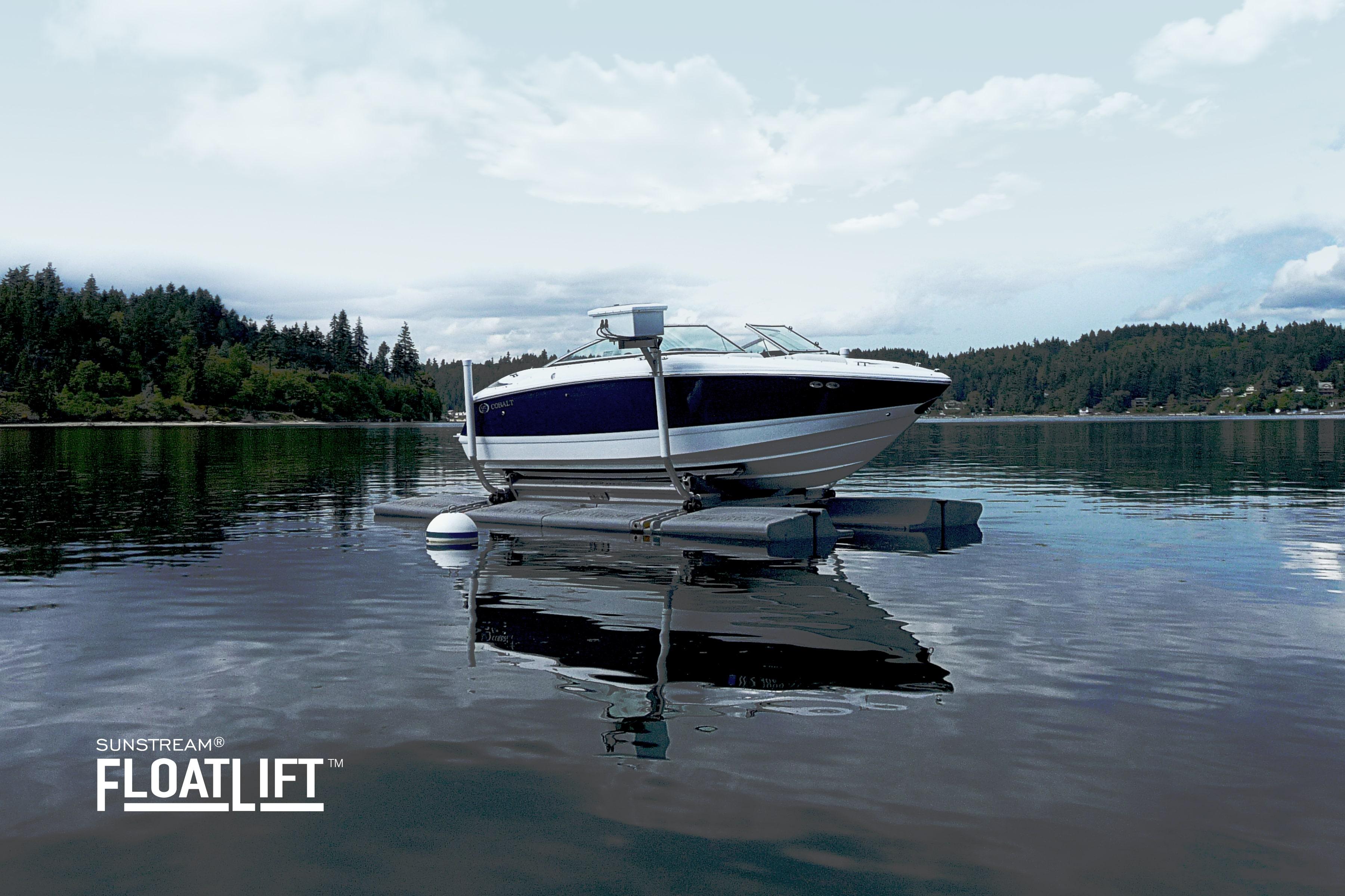 Sunstream Floatlift Example hydraulic boat lift