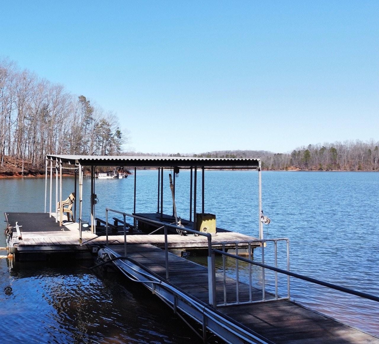 Single Slip Covered Steel Dock Lake Hartwell